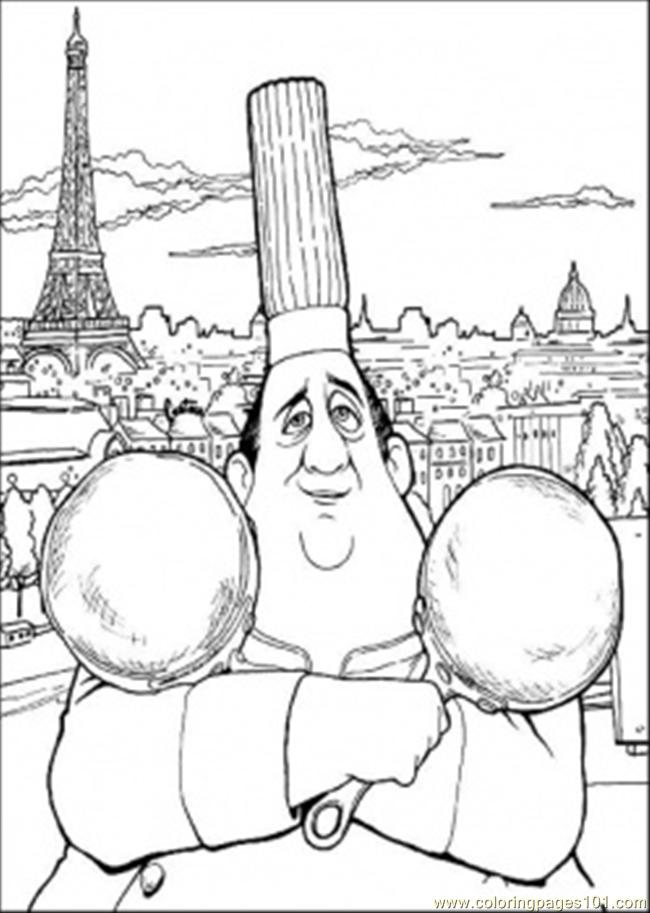 Auguste Gusteau Coloring Page Free Ratatouille Coloring