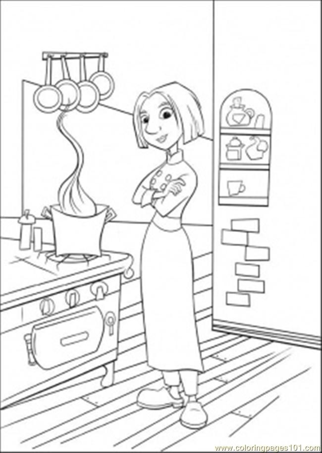 Colette In The Kitchen Coloring Page Free Ratatouille Coloring