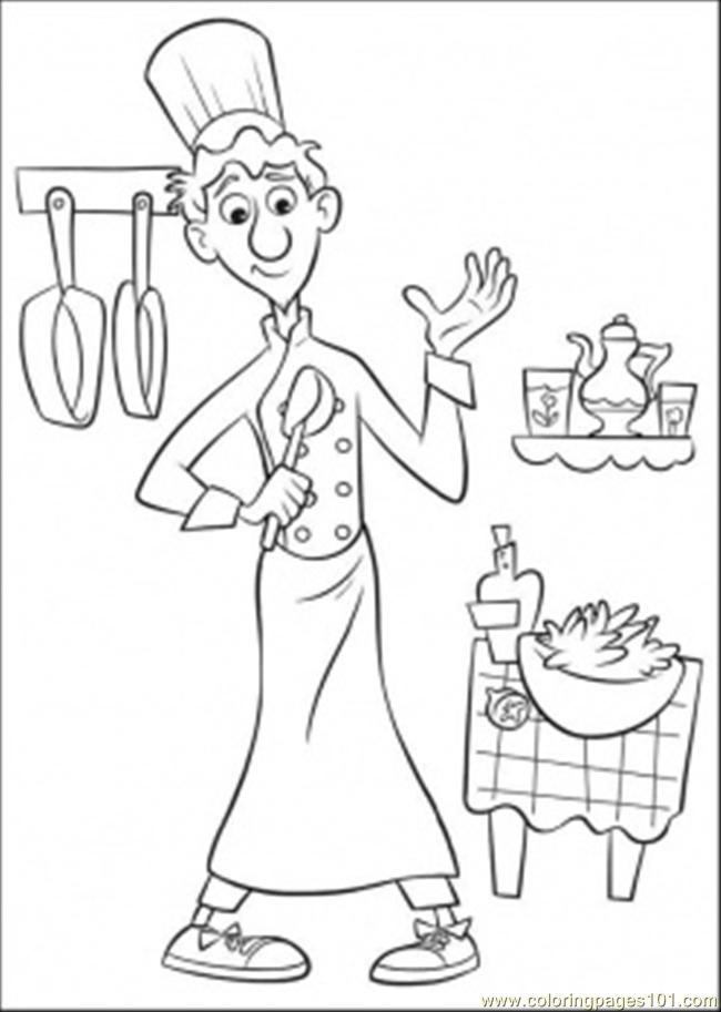 Hungry Remy Looks For Food Coloring Page - Free Ratatouille ... | 913x650
