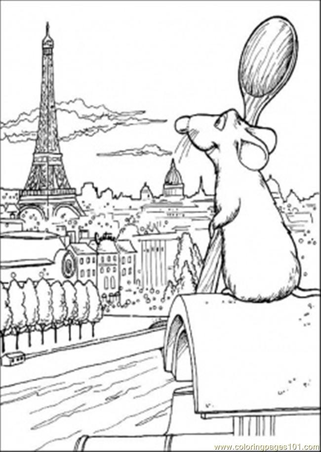 Remy Dreams About Future Coloring Page - Free Ratatouille ...