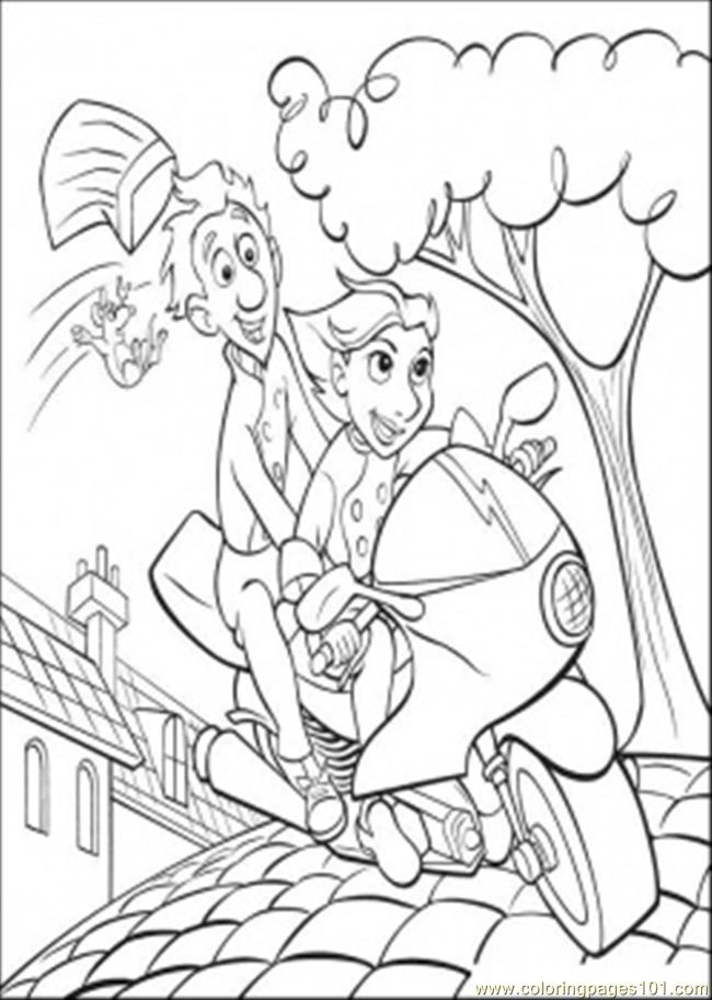 Remy Falls Of The Head Coloring Page
