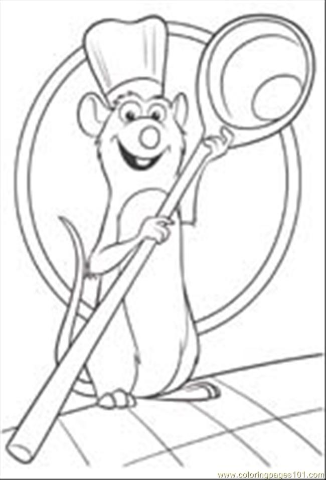 ratcoloring1 coloring page - Ratatouille Coloring Pages