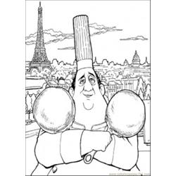 Auguste Gusteau Free Coloring Page for Kids