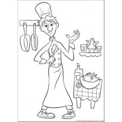 Linguini Is Surprised Free Coloring Page for Kids