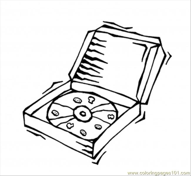 Pizza In The Box Coloring Page