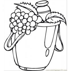 Fresh Grapes Free Coloring Page for Kids