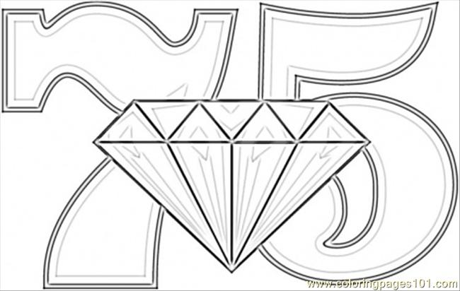Anniversary Diamond Wedding Coloring Page