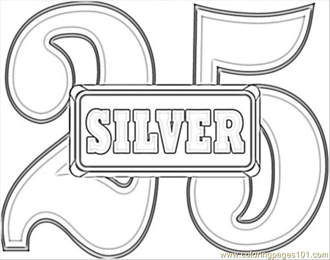 Anniversary Silver Wedding Coloring Page