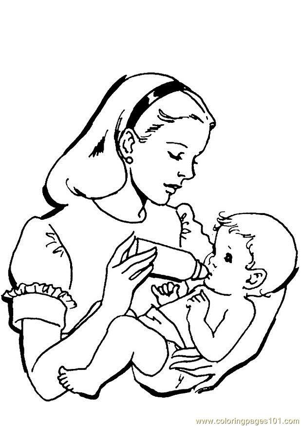 baby coloring page - Mom Baby Horse Coloring Pages