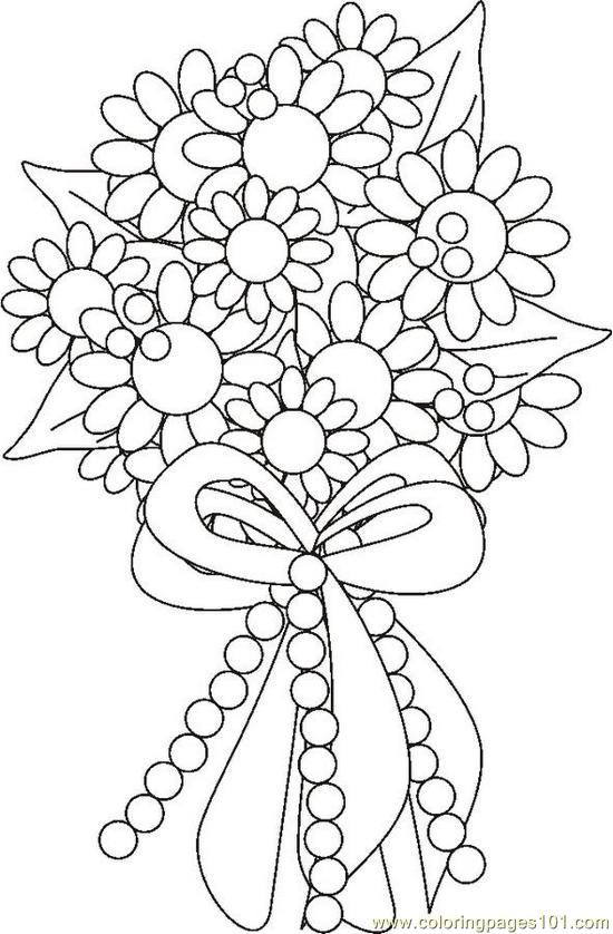 Boquetflowersbw Coloring Page