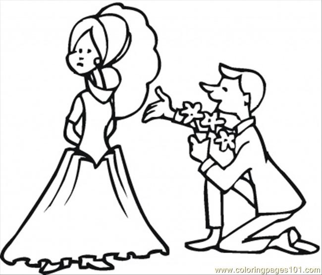 Etiquette Man And Woman Coloring Page