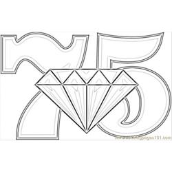 Anniversary Diamond Wedding Free Coloring Page for Kids