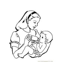 Baby Free Coloring Page for Kids