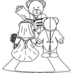 Bearweddingbw Free Coloring Page for Kids
