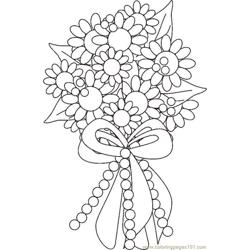 Boquetflowersbw Free Coloring Page for Kids