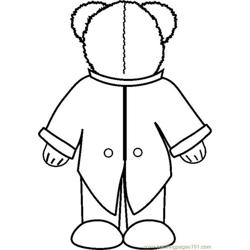Groombearbkwdsbw coloring page