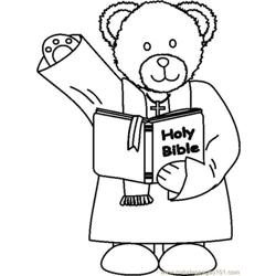 Ministerbear1bw coloring page