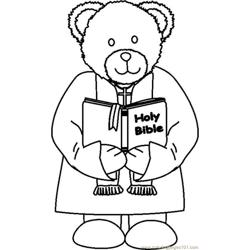 Ministerbear2bw Free Coloring Page for Kids