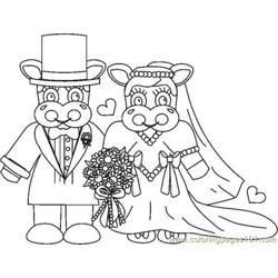 Weddingcowsbw Free Coloring Page for Kids