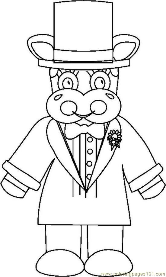 Weddingcowgroombw Coloring Page