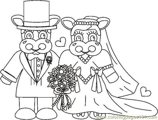 Weddingcowsbw Coloring Page