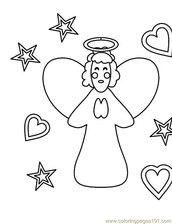 001 Angel 19 Coloring Page