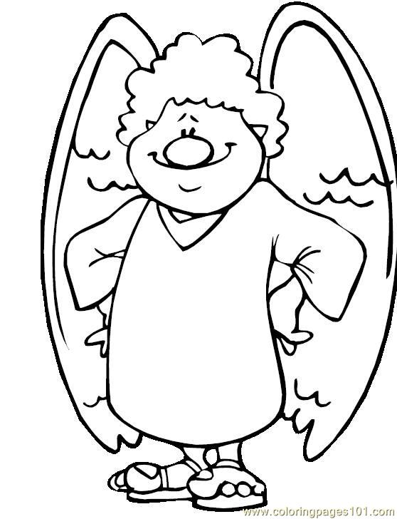001 Angel 2 Coloring Page