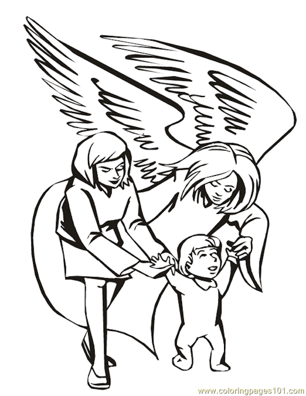 001 Angels 23 Coloring Page