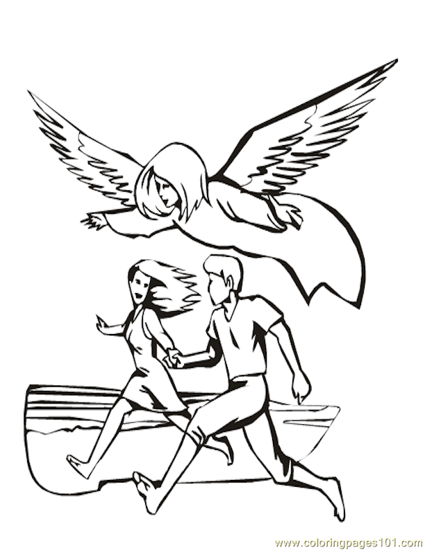 001 Angels 7 Coloring Page