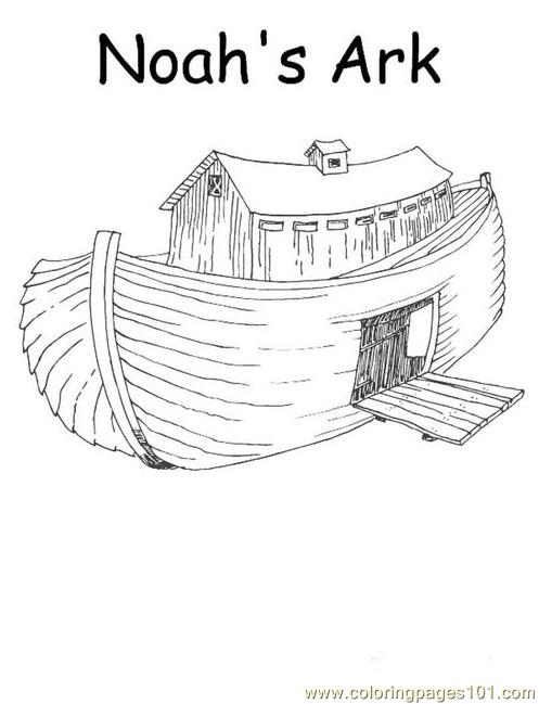 001 Noah 1 Coloring Page Free