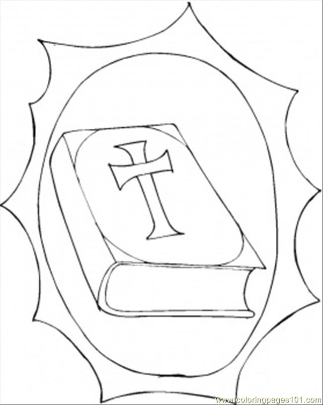 Bible Wise Book Coloring Page
