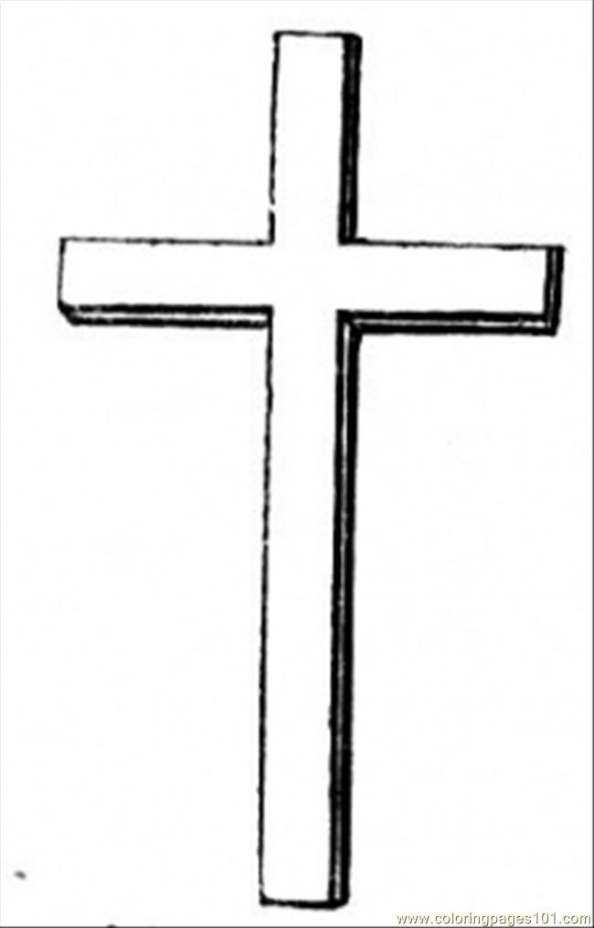 Christian Cross Coloring Page
