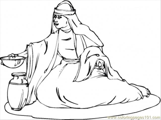Deborah Prophetess And Judge Of Israel Coloring Page