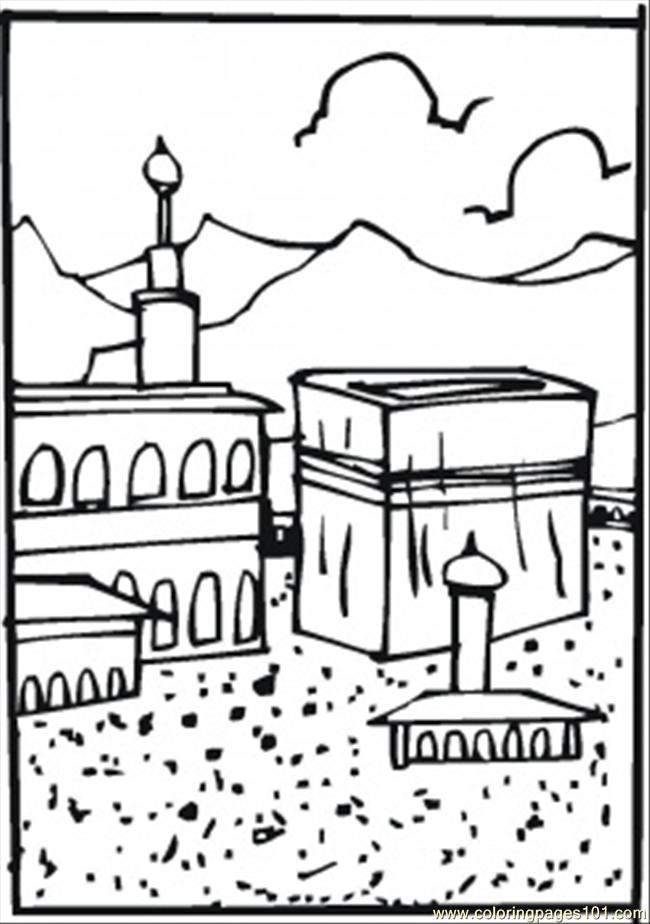 Hajj Coloring Page Free Religions