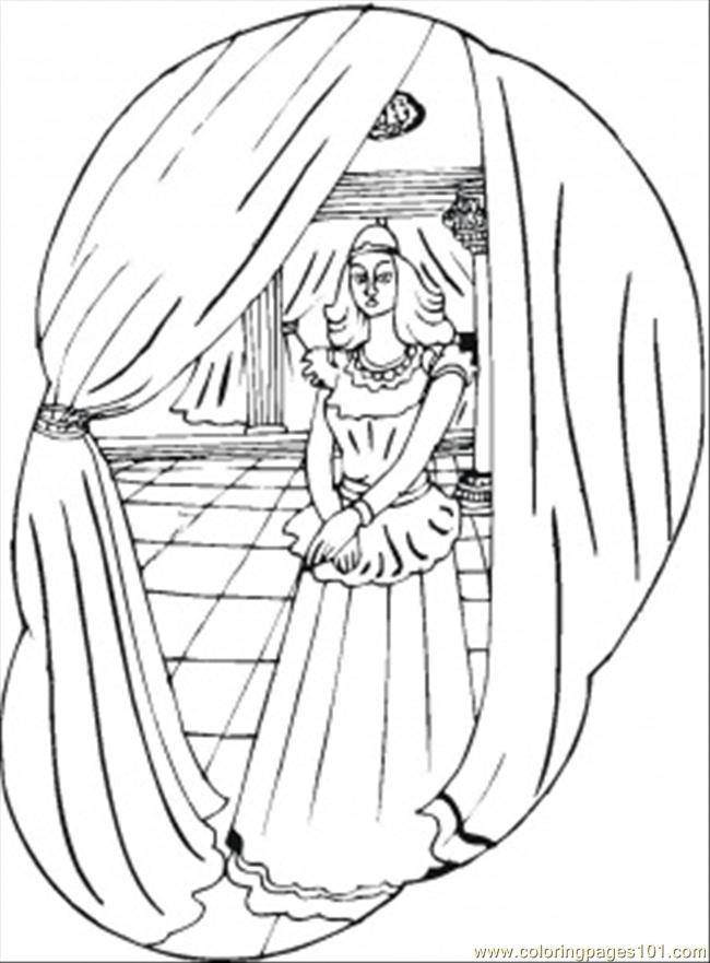 In Queens Palace Coloring Page