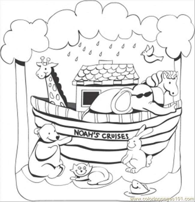 Noahs Ark Coloring Page Free