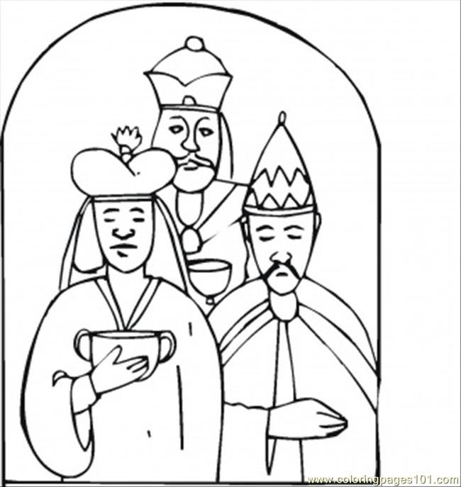 Wise Men Came With Gifts To Worship Little Jesus Coloring Page