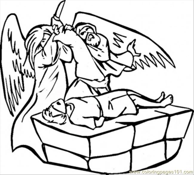 Abraham And Isaac Coloring Page - Free Religions Coloring Pages ...