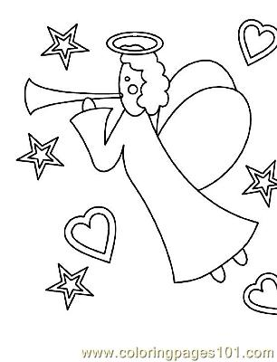Angel 18 Coloring Page