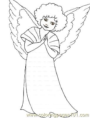 Angel 4 Coloring Page