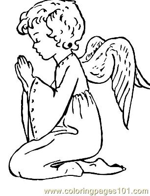 Angel 9 Coloring Page