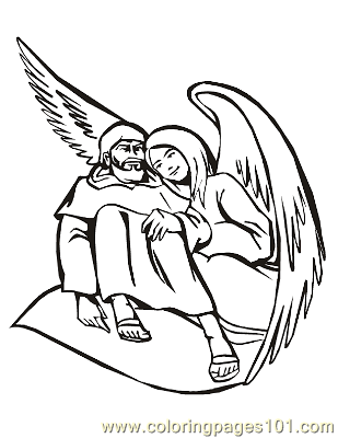Angels 14 Coloring Page