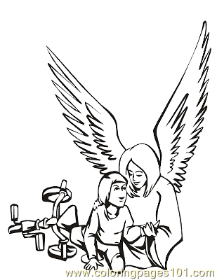 Angels 25 Coloring Page
