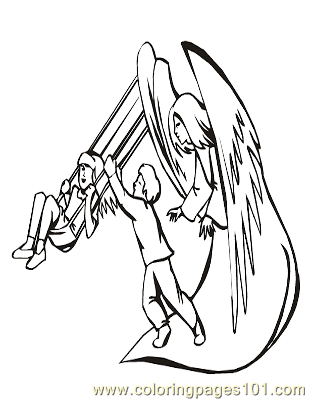 Angels 37 Coloring Page