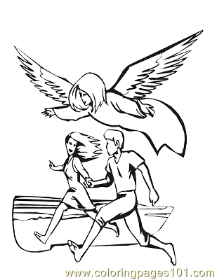 Angels 7 Coloring Page