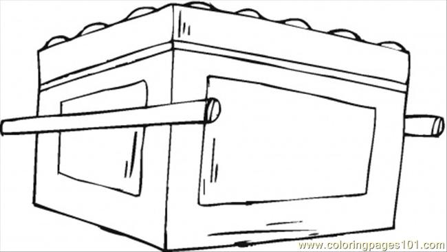 Ark of the covenant coloring page free religions for Ark of the covenant coloring page