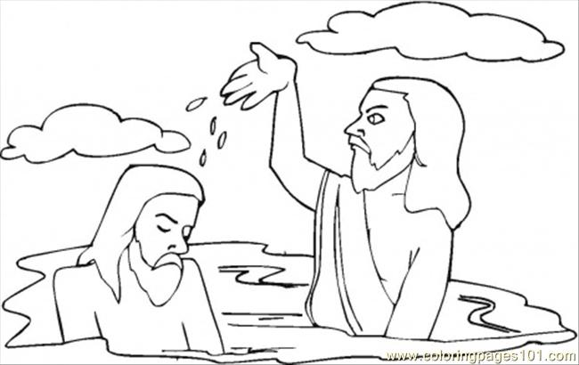 - Baptism Of Jesus Coloring Page - Free Religions Coloring Pages :  ColoringPages101.com
