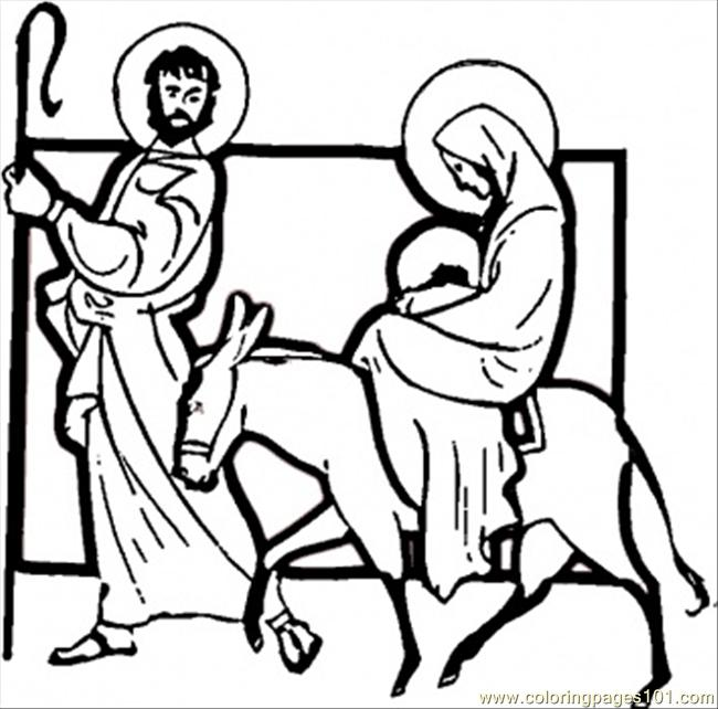 Carrying Jesus Coloring Page Coloring Page