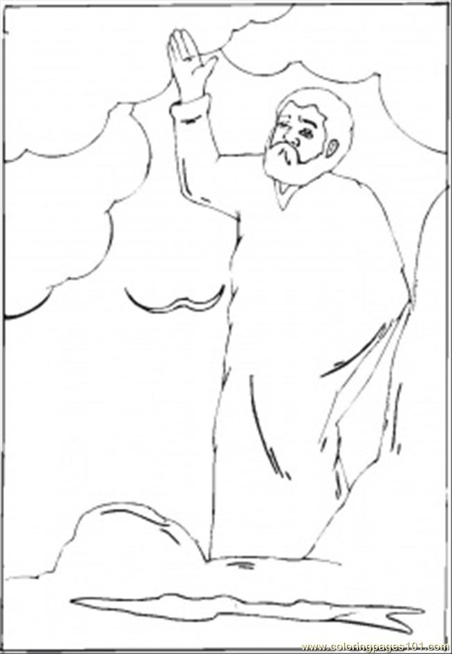 Creation Story Coloring Page