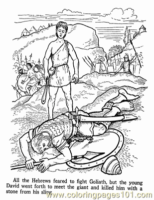 David And Goliath 2 Coloring Page
